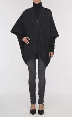 Cable Knit Poncho | Vince
