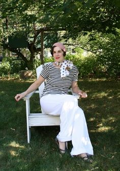 Adeline's Attic Vintage : Nudeedudee 30s inspired Striped Tops: Perfect to a...