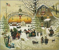 It's puzzle time!  Every year my family chooses a Charles Wysocki puzzle and this could be the one for this year! Christmas Greeting