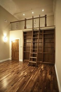Library / Loft / Rolling Ladder System Photo by helicopter99 | Photobucket