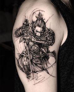 Sekiro shadow die twice - Tattoo Band Tattoos For Men, Half Sleeve Tattoos For Guys, Cool Tattoos For Guys, Dope Tattoos, Arm Band Tattoo, Tatoos, Samurai Tattoo Sleeve, Samurai Warrior Tattoo, Warrior Tattoos