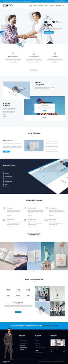 StartUp : Multiuse Business WordPress Theme