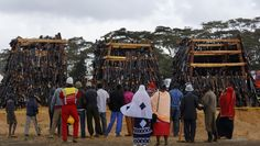 People watch before a pile of 5,250 illegal weapons are burned by Kenyan police in Ngong, near Nairobi, in Kenya Tuesday, Nov. 15, 2016. The weapons consisted of both confiscated and surrendered firearms that had been stockpiled over almost a decade and were destroyed by police as a message to the public to surrender others. (AP Photo/Ben Curtis)  via @AOL_Lifestyle Read more…
