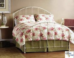 I want this bed in yellow! Great website for vintage iron beds
