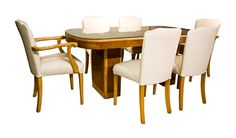 Art Deco Dining Table with Six Chairs c.1930
