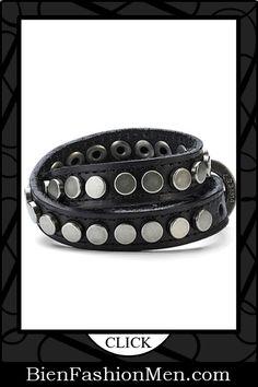 Mens Leather Cuffs | Mens Bracelets | Mens Jewelry | Mens Accessories | Bracelets on Men | Mens Jewelery | Shop Now ♦ Trendy Mens Urban Snake Style Black Leather Bracelet Cuff $15.90