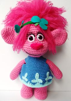 Made-to-order Crochet Poppy the Troll. Princess by TheCrochetBoxUK