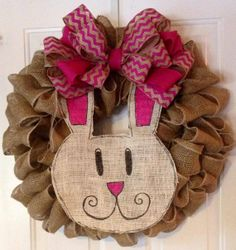 Burlap Bunny CHANGE OUT not wreath by tiffanynewcomb on Etsy, $30.00