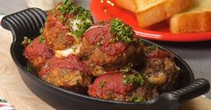 Mozzarella-Stuffed Monster Meatballs Take Dinnertime to A Whole New Delicious Level!