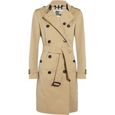 Burberry London Cotton-twill long-length trench coat ($1,765) ❤ liked on Polyvore