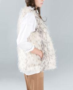 Image 2 of LONG FUR VEST from Zara