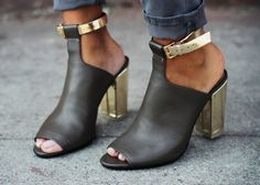 Mule shoe with ankle wrap. Love!