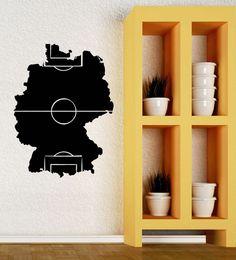 Wall Decal Soccer Football Field Fan Sports Boys Room Vinyl Stickers (ig2768) #Wallstickers4you