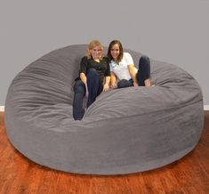 Bay Isle Home Breton Large Bean Bag Chair & Lounger Size: Fabric: Micro Suede - Purple Large Bean Bag Chairs, Large Bean Bags, Giant Bean Bags, Giant Bean Bag Chair, Bean Bag Bed, Bean Bag Lounger, Bean Bag Room, Dream Rooms, Dream Bedroom