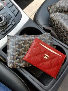 Using my #Chanel card case as a wallet while out and about