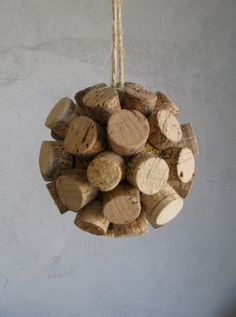 Wine Cork Ball Ornament  Made to Order by Murage on Etsy