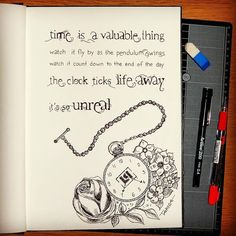 'Time is a valuable thing, watch it fly by as the pendulum swings. Watch it count down to the end of the day, the clock ticks life away, it's so unreal...' - lyrics from 'In the End' by Linkin Park #lyricart