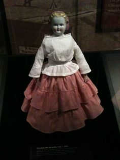A china doll that survived the Great Fire of Chicago.  I took this at the Chicago History Museum.