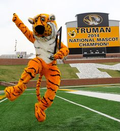 Truman the Tiger is the National Mascot Champ! #MizzouTigers #TrumanTiger