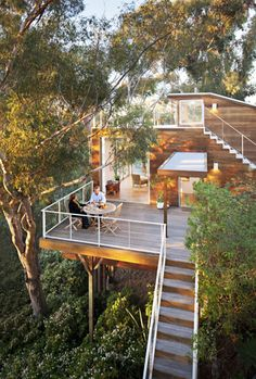 An amazing tree house in Mission Hills, San Diego.