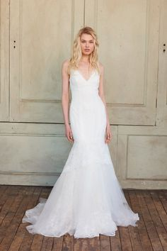See every dress from the Christos Spring 2018 wedding dress collection, straight from the Bridal Fashion Week runways! Chic Wedding Dresses, Wedding Dress Boutiques, Lace Weddings, Bridal Dresses, Lace Ball Gowns, Tulle Ball Gown, Christos Bridal, Petite Bride, Lace Mermaid Wedding Dress