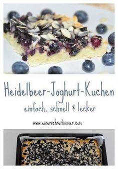 Schneller Heidelbeer Joghurt Kuchen vom Blech