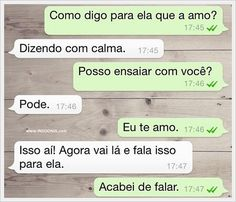 As melhores conversas do Whatsapp (Parte 8 Best Casual Outfits, Converse, Funny Images, Cool Words, Haha, Funny Quotes, Tumblr, Stork, Troll