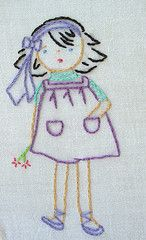 crazy quilt block (she is too cute!)