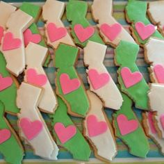 california cooookies for going away parties..but Florida instead. Home is where the heart is