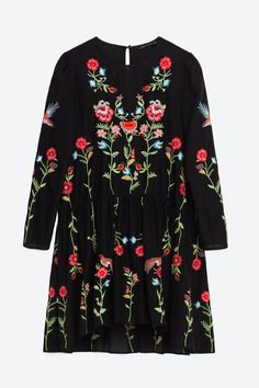 Zara Floral Embroidered Dress, £49.99