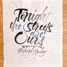 A commissioned piece from last summer. • #Calligraphy #pointedbrush #brushpen #script #cursive #London #tbt #richardhawley
