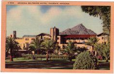 Vintage Arizona Postcard Arizona Biltmore Hotel by VintagePlum