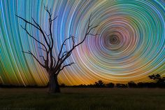 Just Space — 65040-second exposures of star trails make for a...