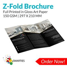 We provide high quality A4 6PP DL Folded Takeaway Menu full-colour printed in 150 GSM Gloss Art Paper. Email us at: enquiries@smarties.com.au