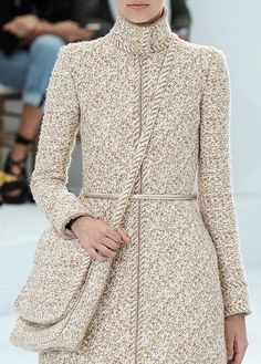 Embroidered soft tweed messenger #bag #Chanel Fall Winter 2014 Haute #Couture #ChanelHauteCouture