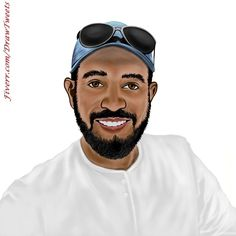 Happy Guy Wearing a Blue Hat - An art piece inspired by the order from Spbrands in I will hand draw cartoon avatar from your photo gig on Fiverr.com/DrawTweets #BlueHat #HappyGuy #Portrait #Caricature #Art #Drawing A Cartoon, Cartoon Drawings, Art Drawings, Happy Guy, Beautiful Drawings, Black People, Caricature, Hand Drawn, Your Photos