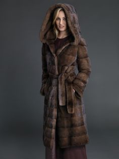 Dyed Demibuff Mink coat #stylish #coat #fur #outwear at Flemington Furs - available online at FlemingtonFurs.com