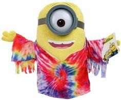 Minions Knuffel Stuart - Hippie (28cm) #minion #minions #kevin #bob #stuart #pluche #speelgoed #knuffel #minionsartikelen
