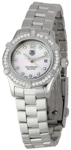 TAG Heuer Women`s WAF1416.BA0824 Aquaracer Swiss-Quartz Diamond Mother-Of-Pearl Dial
