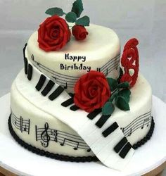 Happy birthday music note cake