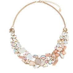 Accessorize Roxi Lux Statement Collar Necklace ($49) ❤ liked on Polyvore featuring jewelry, necklaces, accessories, украшения, cluster necklace, accessorize jewelry, collar necklace, jewel collar necklace and accessorize necklaces