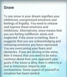 11/16/13 Dream Psychology, Psychology Facts, Lucid Dreaming, Dreaming Of You, Dream Interpretation Symbols, Snow Meaning, Science Of The Mind, Facts About Dreams, Dream Symbols