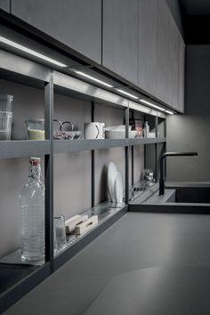 Stainless steel Kitchen accessory XPLAIN XP Collection by Zampieri Cucine design Stefano Cavazzana