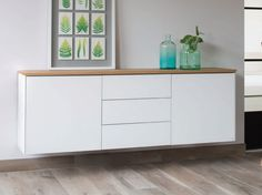 Modular suspended Xeramica sideboard with doors Cube 55 Cube Collection by Joli design Chris Vankeirsbilck