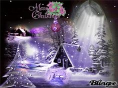 Purple Christmas Merry Christmas Gif, Christmas Scenery, Purple Christmas, Christmas Mom, Victorian Christmas, Christmas Wishes, Christmas Pictures, Christmas Cards, Xmas