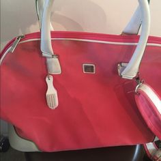 DVF bucket travel bag Great for 1 or 2 nights. Some scuffs and marks from being well loved but inside is in perfect condition. Diane von Furstenberg Bags Travel Bags
