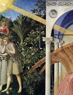 The Annunciation,detail, Prado altarpeice, Fra Angelico