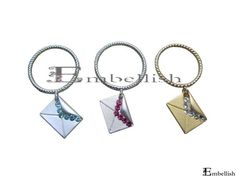Php150 JAYA envelop colored studs ring