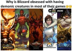 Honestly Doomfist is probably nicer than Mei. Can wait to see him become a character!!! | Why is blizzard obsessed with having demonic creatures in most of their games? | overwatch, hearthstone, warcraft, diablo | overwatch meme, humor, funny #overwatchMeme