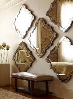 makes a room seem so big with so many mirrors. Candice Olson Bedroom Collection By Highland House